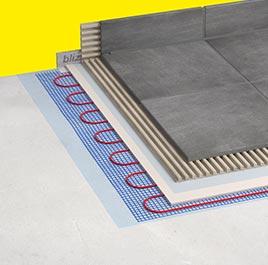 Fußbodentemperierung für Fliesenböden
