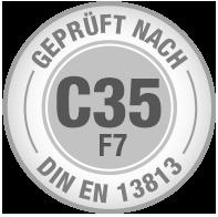 Prüfsiegel C35 F7