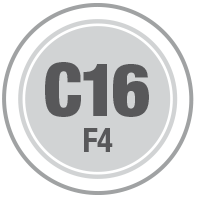 Prüfsiegel C16 F4