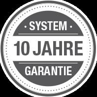 10 Jahre Systemgarantie