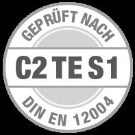 Prüfsiegel C2 TE S1