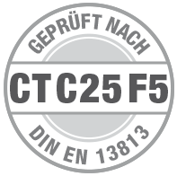 Prüfsiegel CT C25 F5