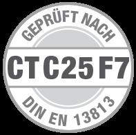 Prüfsiegel CT C25 F7