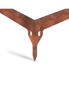terraflex corten Flacheisenanker Außenecke | aus CORTEN-Stahl