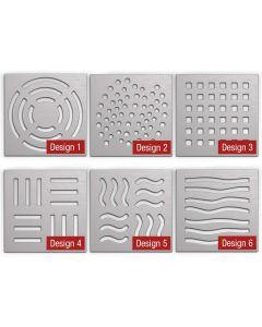 Design-Roste Edelstahl V2A für Bodenablauf
