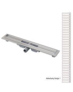 easyline Standard Duschrinne | Abdeckung Design 1