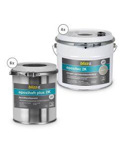 epoxitec 2K Garagen- und Industriebeschichtungsset für Doppelgarage