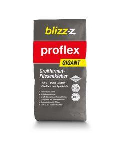 Fliesenkleber proflex GIGANT - für große Formate: standfest, einfache und hohlraumfreie Verlegung