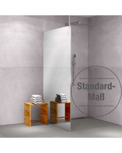 Glas-Duschabtrennung Klarglas einseitig vollflächig verspiegelt