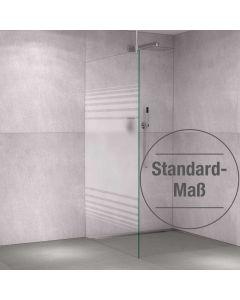 Glas-Duschabtrennung Klarglas einseitiger Teilsiebdruck - Streifendekor