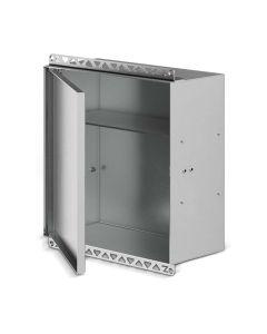 QUBO Einbauschrank Edelstahl V2A - geöffnet