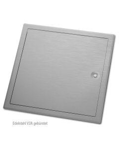 Revisionstür Edelstahl V2A mit Vierkant-Verschluss | gebürstet