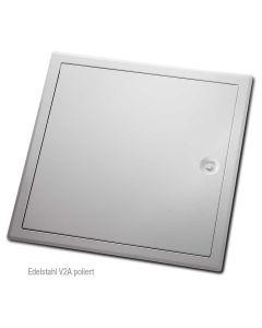 Revisionstür Edelstahl V2A mit Vierkant-Verschluss | poliert