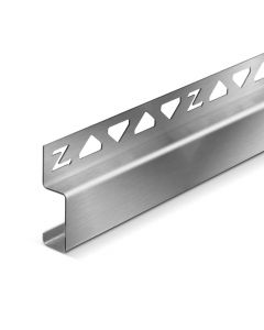 Deko-Line Wandanschlussprofil Edelstahl V2A gebürstet 990 mm