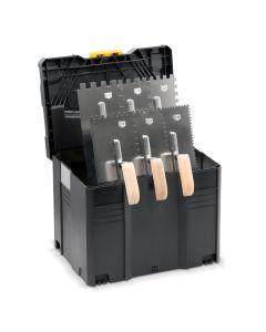 Zahnkellenkoffer-Set mit Holzgriff